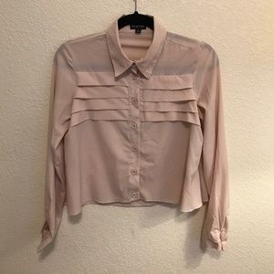 PASTEL // pink. button up